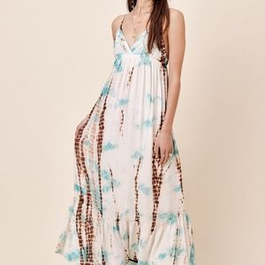 NWT LOVE STITCH TIE DYE MAXI DRESS